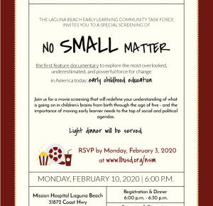 No Small Matter Movie Screening