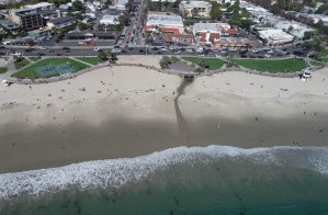 Laguna Beach City Monitoring Social Distancing